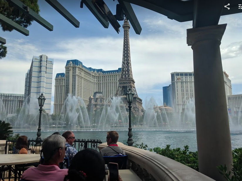 Watching the results of all that mechanical engineering and facilities maintenance that make the Bellagio Fountains possible. Seeing the machinery behind a selection of pieces by DJ Tiesto.
