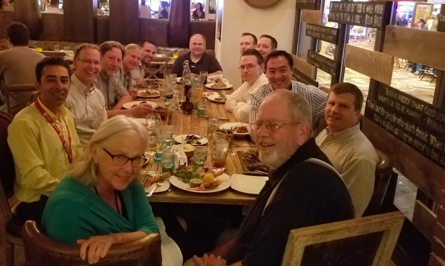 State reps from the NSPE Western Division gathering for our annual region dinner.