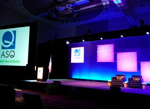 Front and center in the Sagamore Ballroom at the Indianapolis Convention Center, prior to the start of the medals ceremony.
