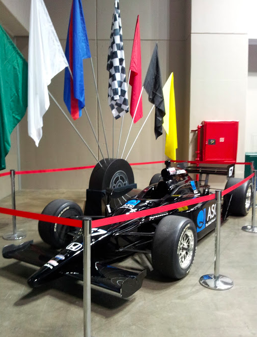 When in Indianapolis, flex your ASQ branded F1 race car.