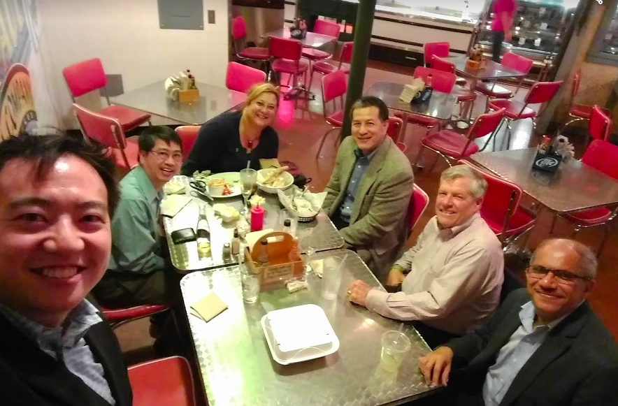 Gathered up a few board members for a fish dinner at the Milwaukee Public Market.