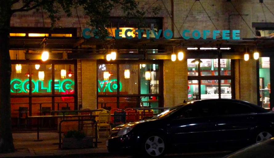Each night I'd make it to this Colectivo Coffee just before closing so I could have a to-go brew to take back to my room and round out the night catching up on email or just reflecting on the day.