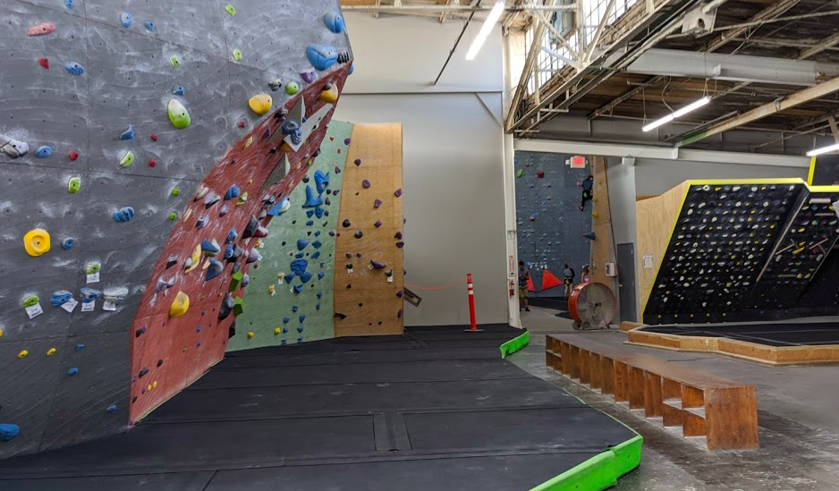 ROKC has a little for everyone, including an extensive bouldering room with cool climbing features and a Moon Board.