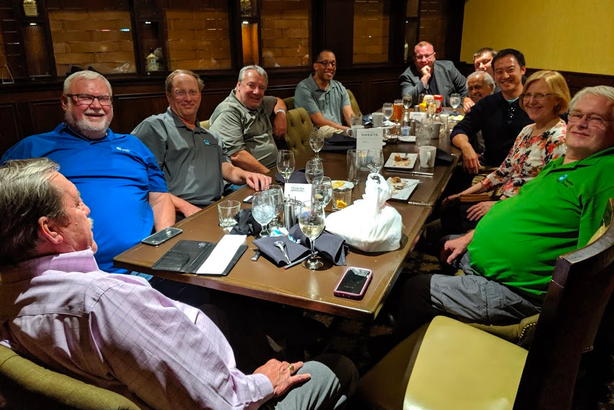 Meet n' greet dinner with the ASQ Inspection Division Leadership Team on the night before their annual conference.