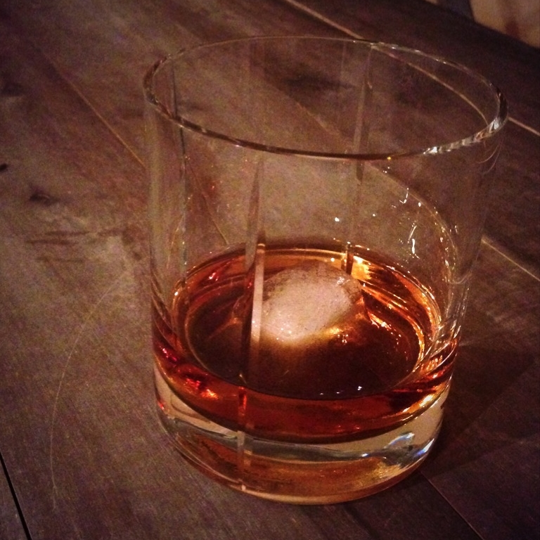 I poured this glass of Macallan 18 year scotch after our app was submitted