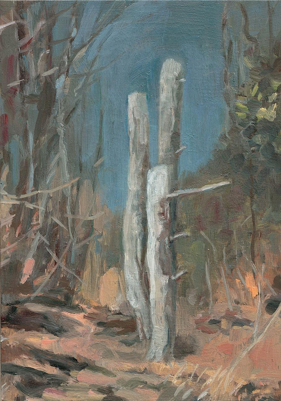 Three Tall Stumps