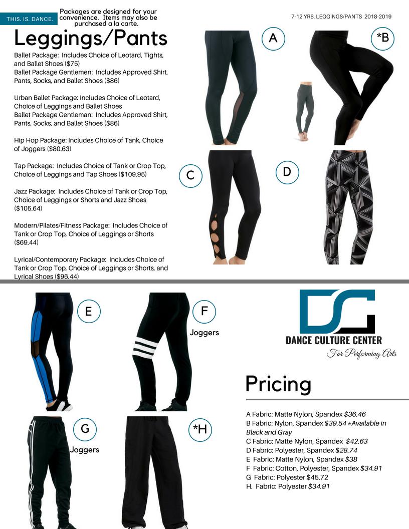 Leggings/Pants 7-12 Yrs.