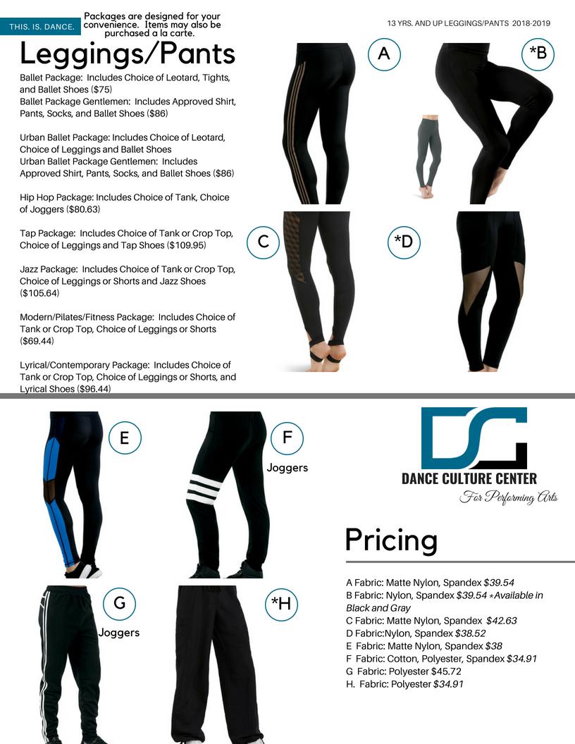 Leggings/Pants 13-18 Yrs.