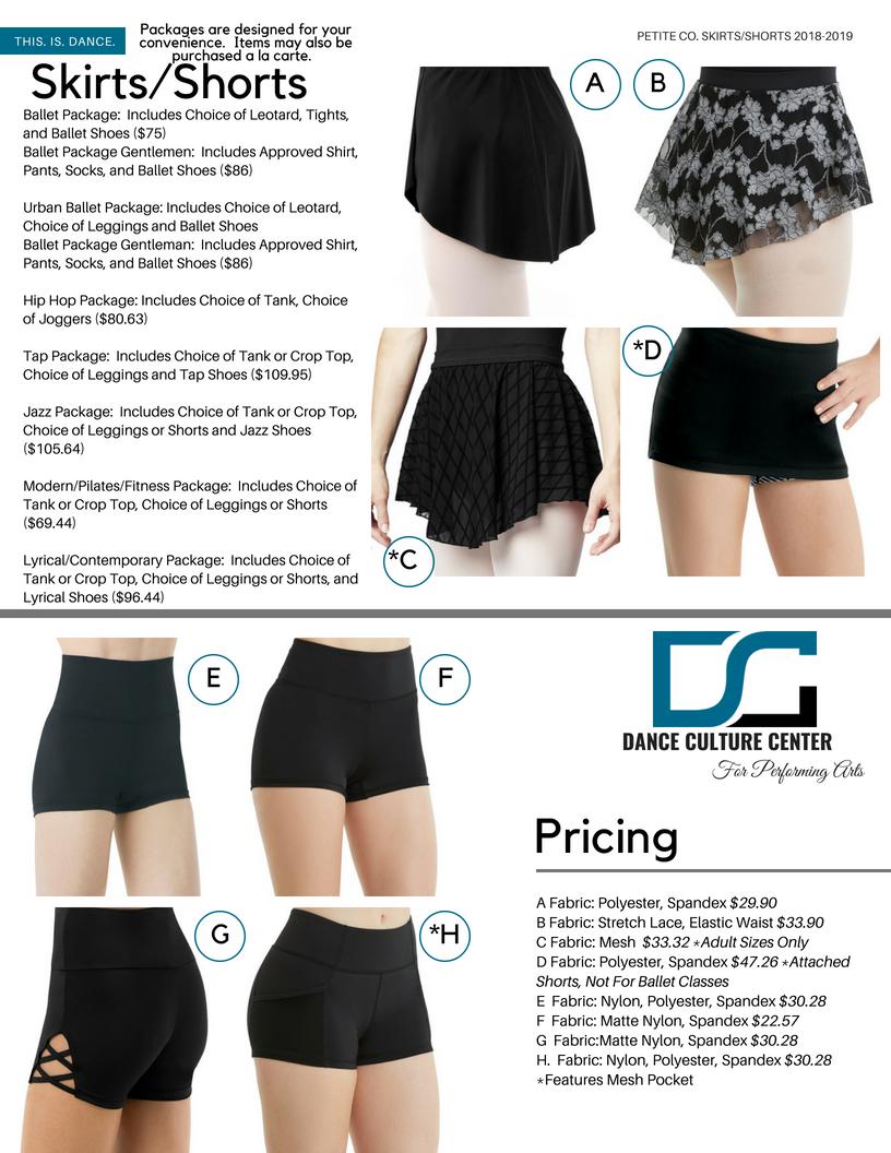 Petite Company Skirts/Shorts