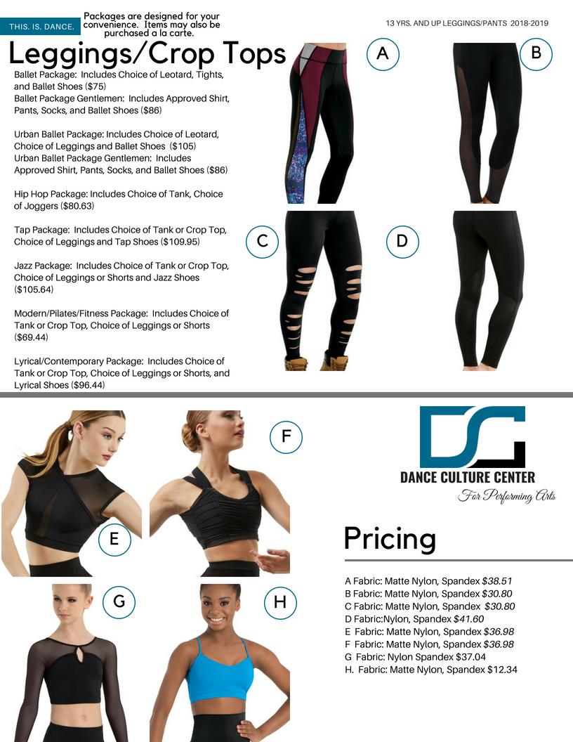 Pre-Professional Leggings/Crop Tops