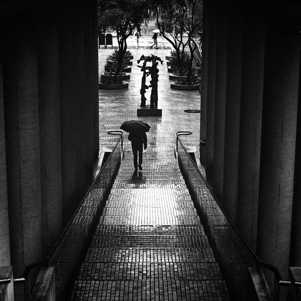 Darkened Walkway