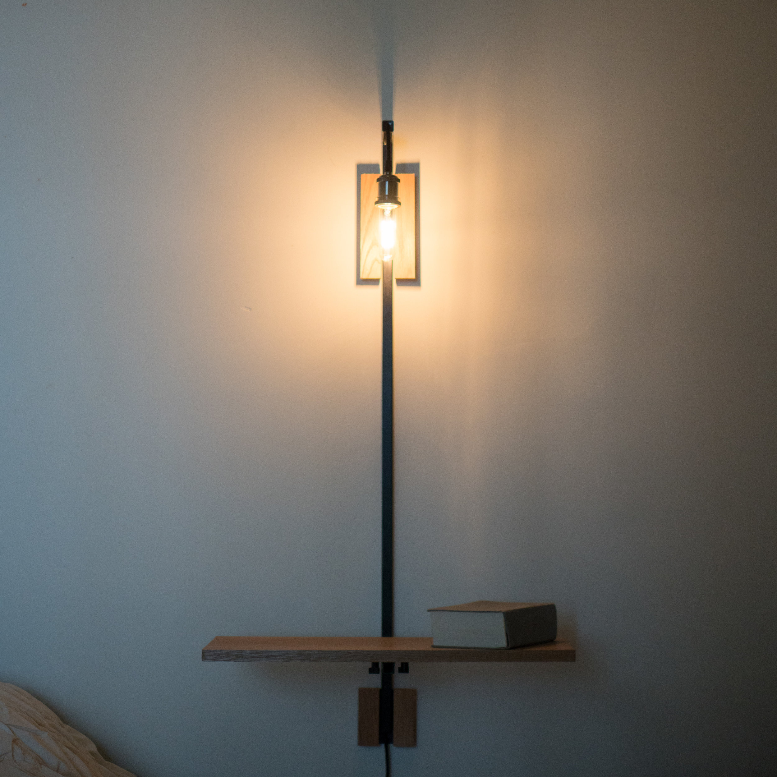 WALL MOUNTED TABLE + LAMP  SOLD OUT