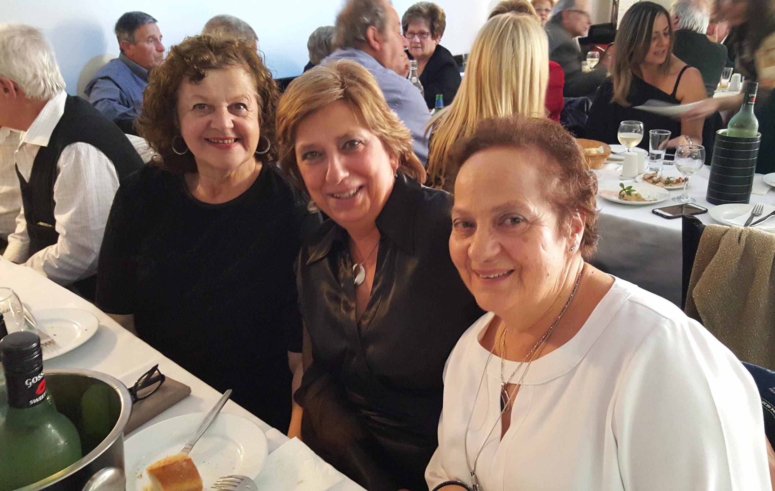 Helen Valsamis, Frances Vayanos and Helen Trifonopoulos. Χρόνια πολλά! Ladies