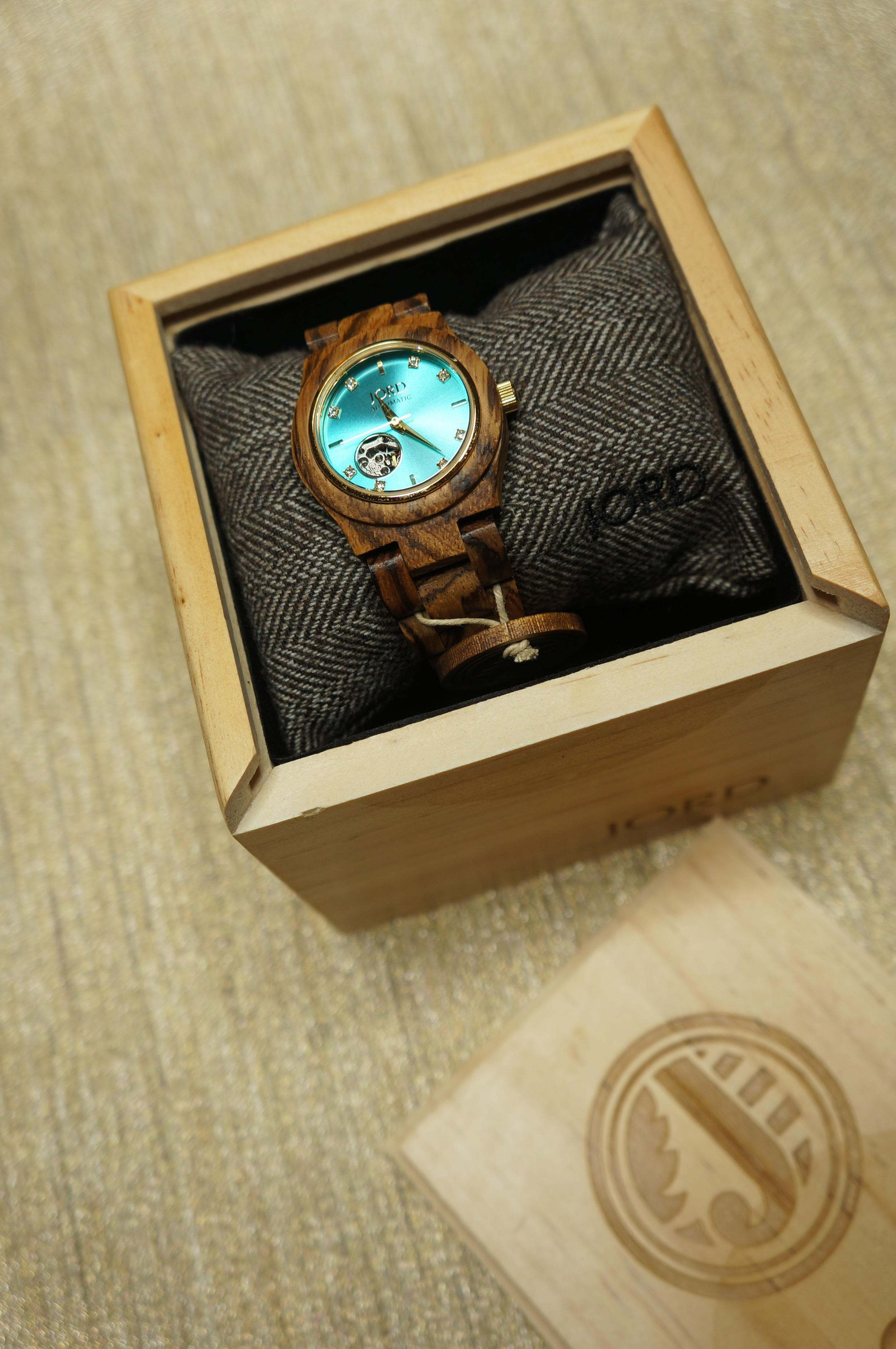 Cora Series - Zebrawood & Turquoise