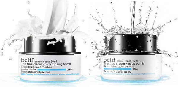BELIF - THE TRUE CREAM - MOISTURIZING BOMB - BENEFIT: All Skin Types, Intense Soothing Hydration, 26 Hours of MoistureAlso Available at SephoraThis moisturizer is literally Da Bomb! Mainly, my better half, George, uses this moisturizer (I know, I'm so proud to have a man who loves taking care of himself)! This is his Go-To, mine would be Belif The True Cream - Aqua Bomb. As you can see, we're Belif Fans!