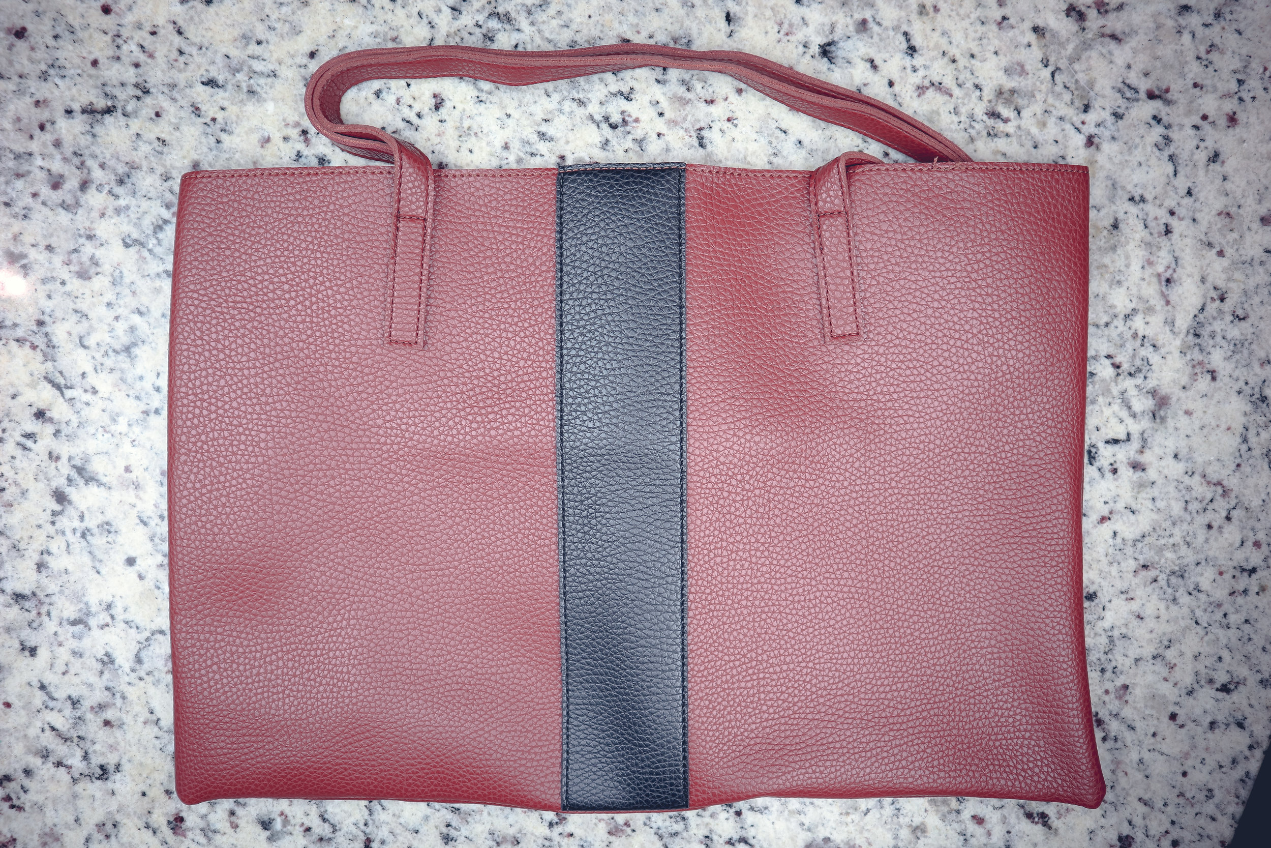 VINCE CAMUTO LUCK TOTE ($128) - I take this Tote EVERYWHERE! Color: Red Desert