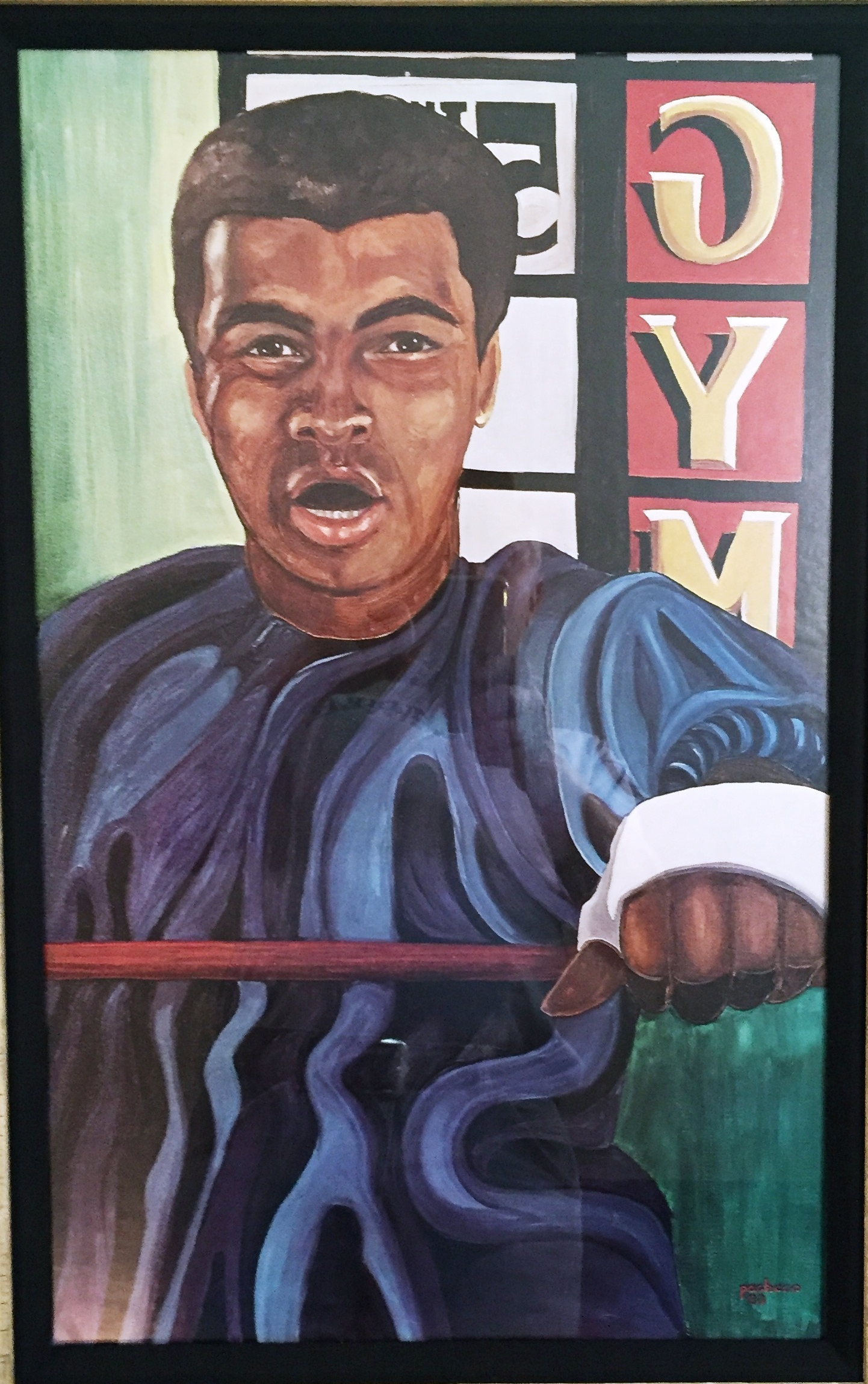 An original Ferdie Pacheco painting of Ali at the 5th Street gym. From a private collection.