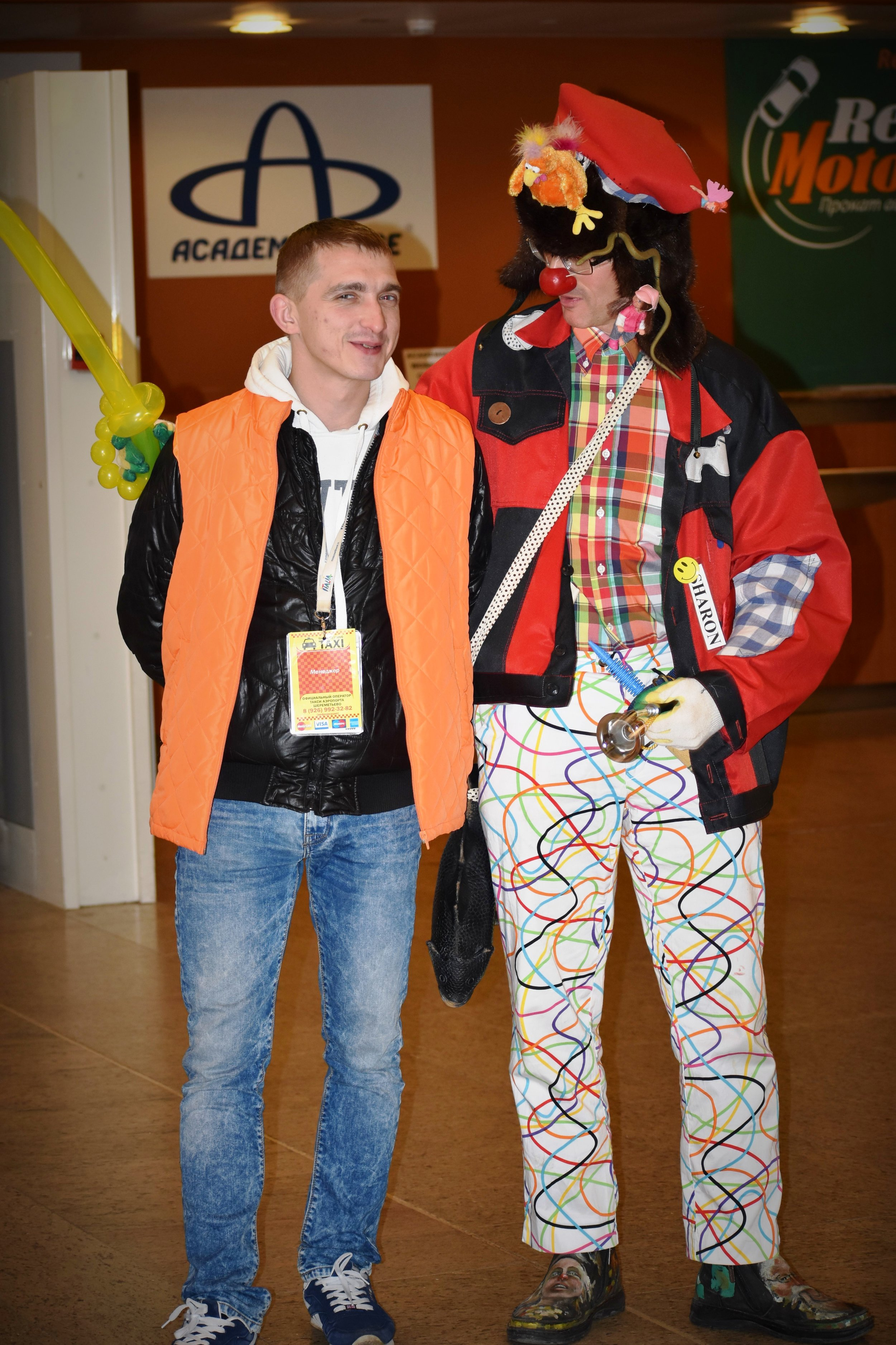 Lyosha the official taxi dispatcher was ready to give discounts to clowns