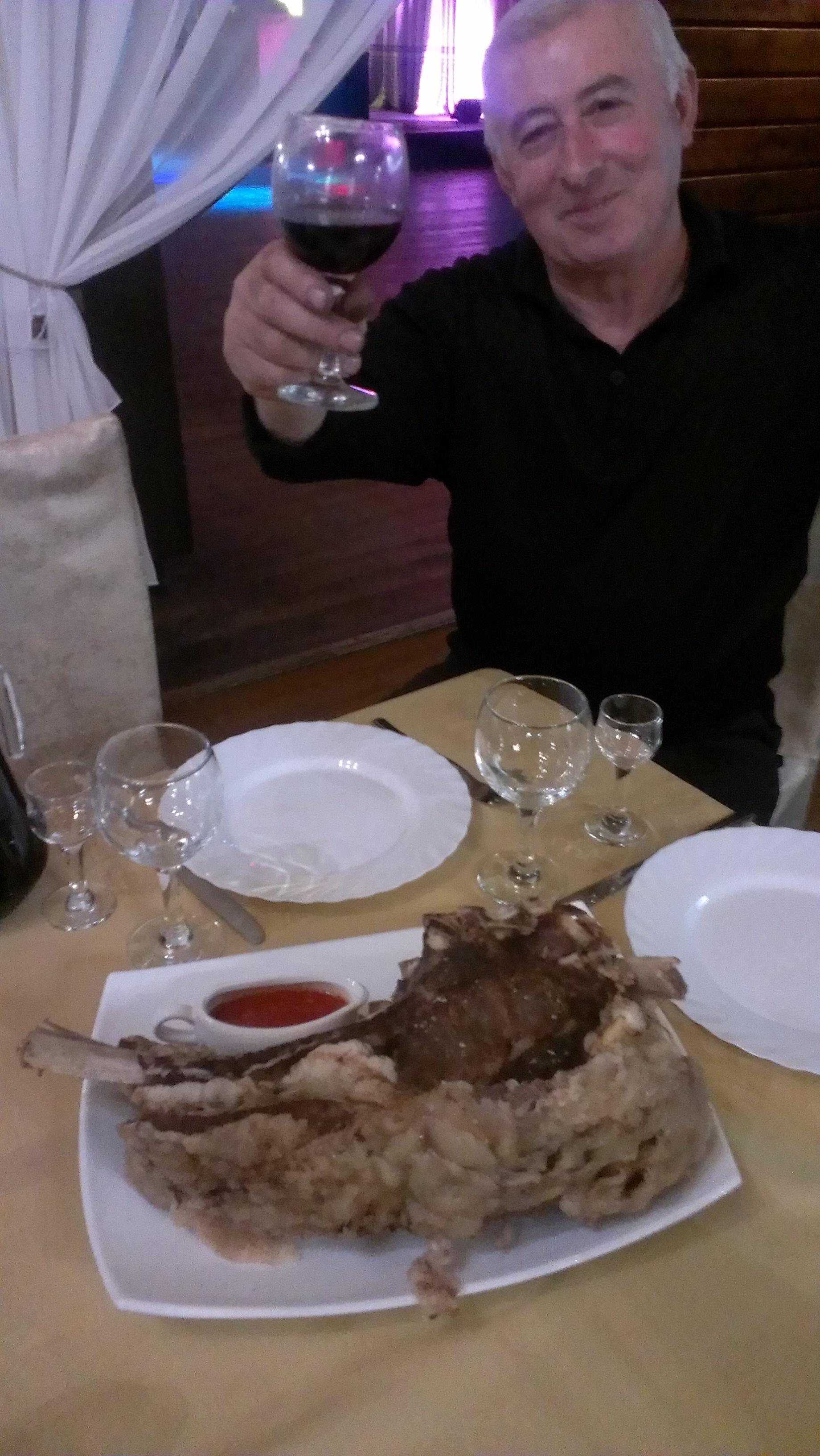 A light caucasian dinner