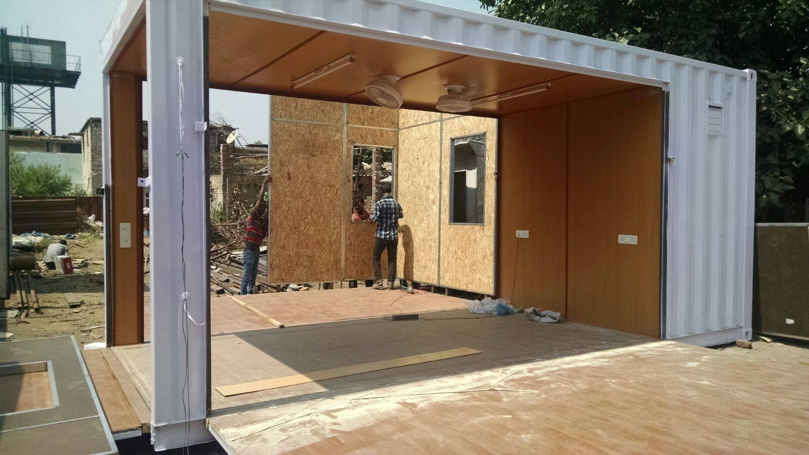 We add our prefab panels on site