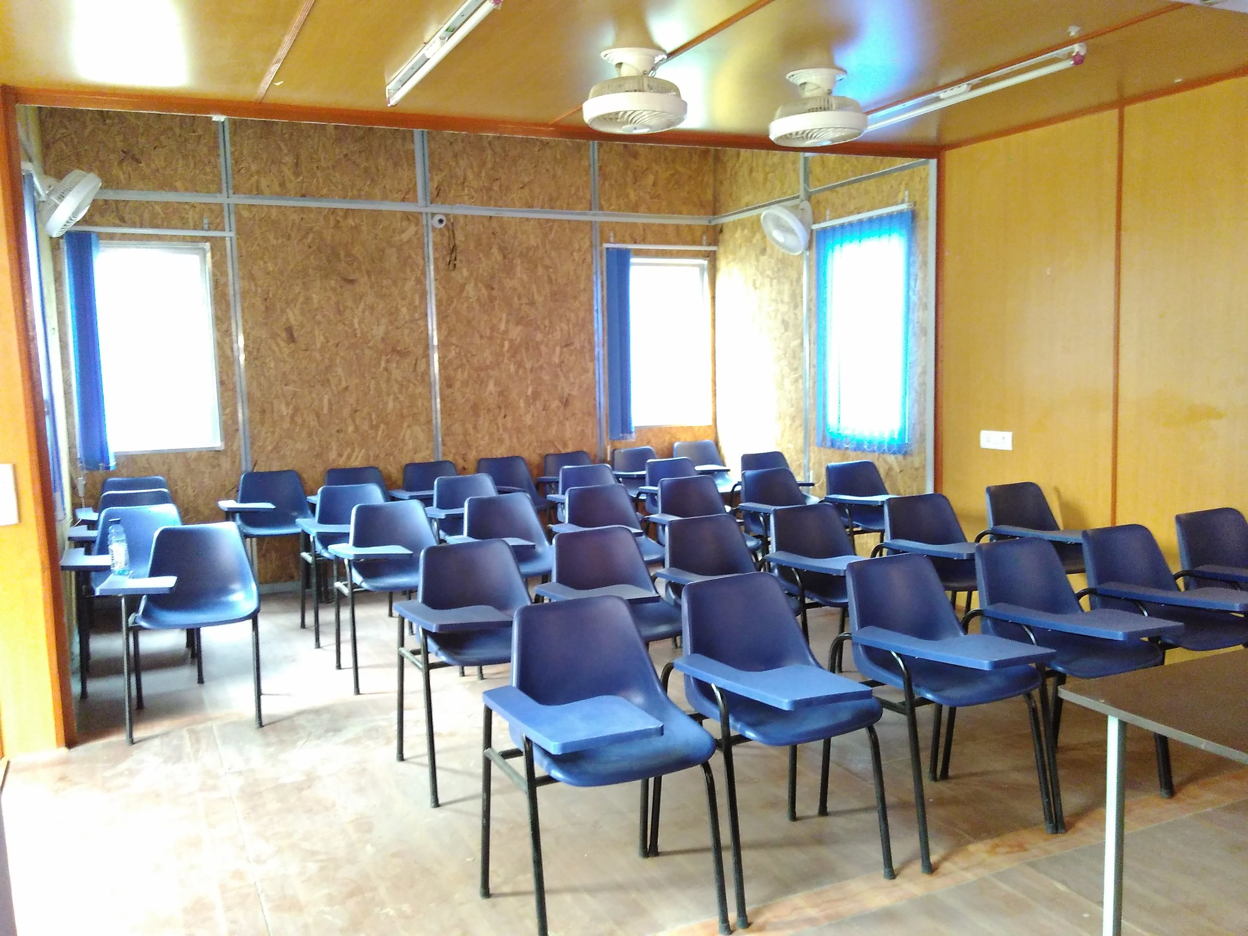 The interior with furniture - seating for 35 students