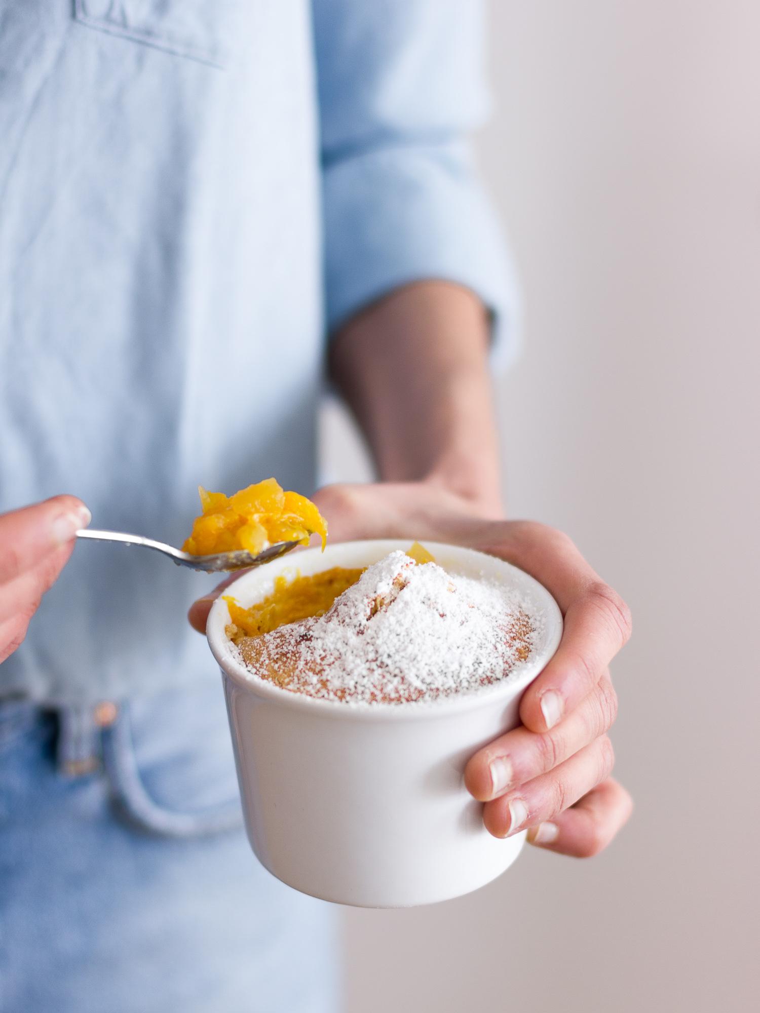 Bizcocho con naranja