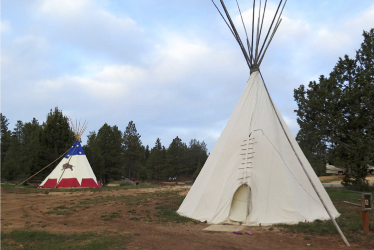 Another night we slept in a tipi near Bryce Canyon National Park.