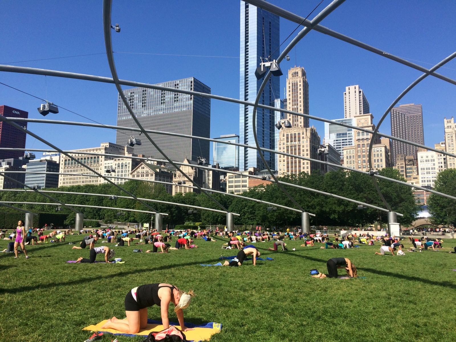 Free yoga in Millenium Park every summer.