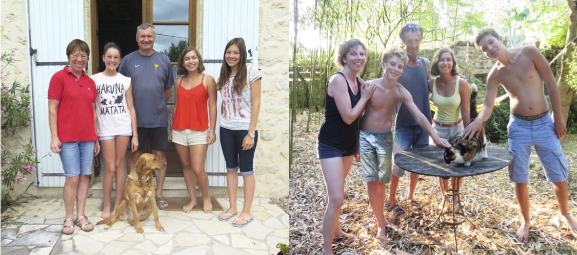 My two incredibly welcoming host families.
