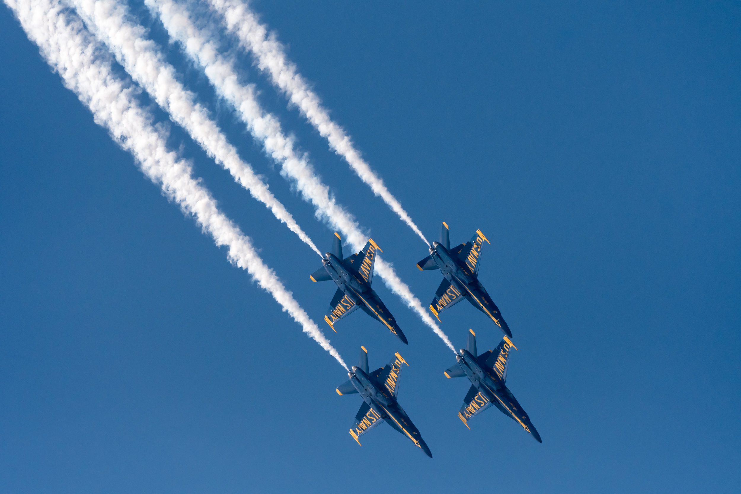 U.S. Navy Blue Angels perform at the NAS Oceana Air Show