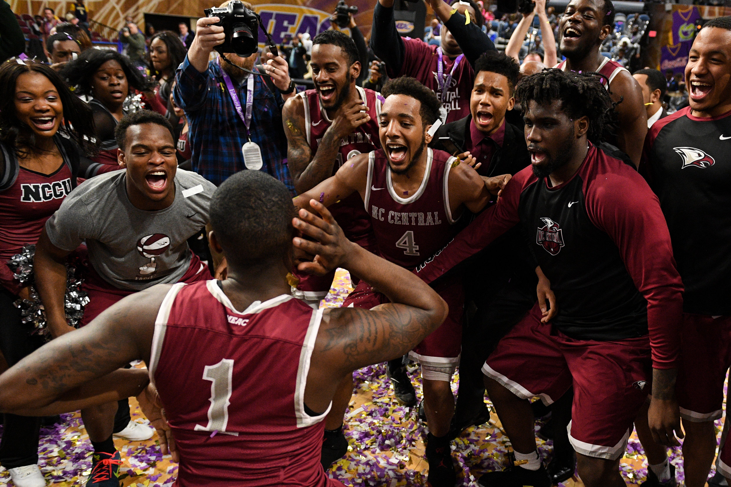 North Carolina Central Hampton Basketball
