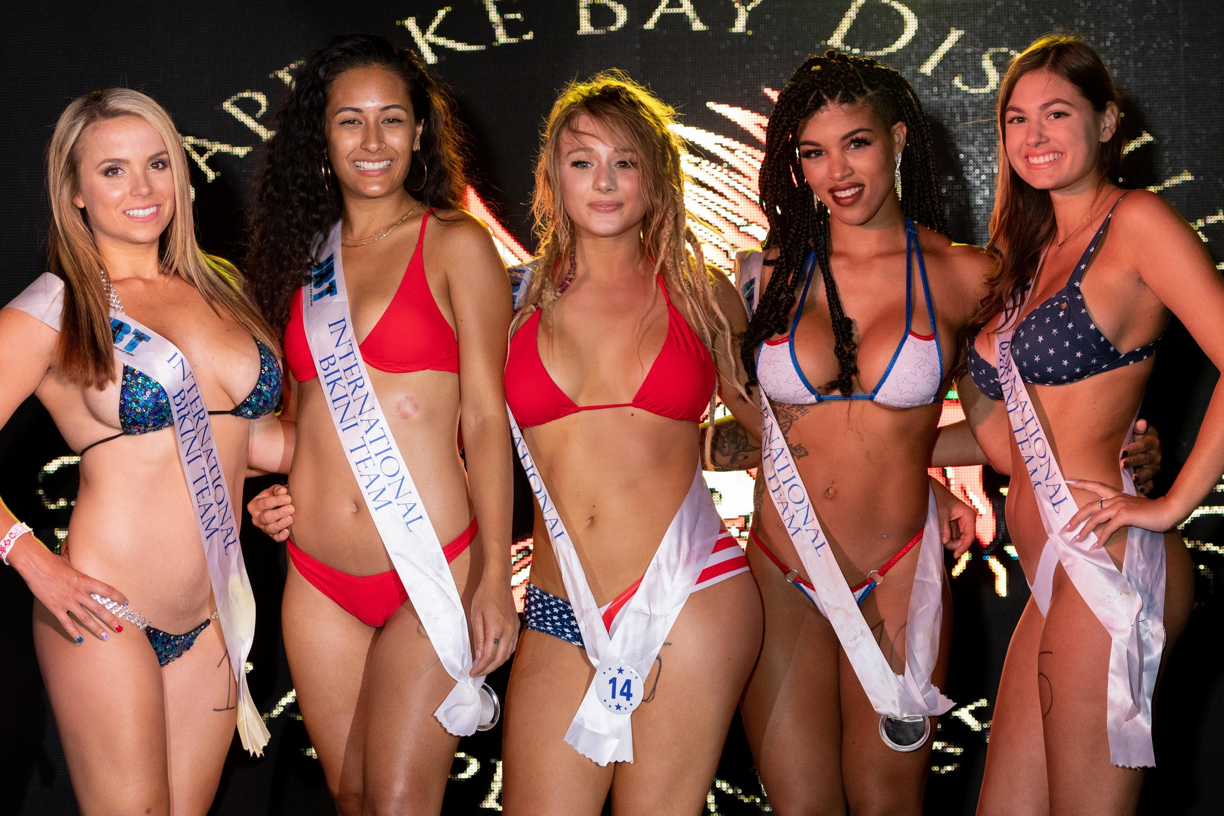 Winners from preliminary Round 6 of the 2018 @coastaledge Miss ECSC Pageant held at @peabodysnightclub Presented by @pacificobeer DoctorStonersVodka ALT 105.3 Chesapeake Bay Distillery iHeartRadio Virginia Beach Nightlife International Bikini Team