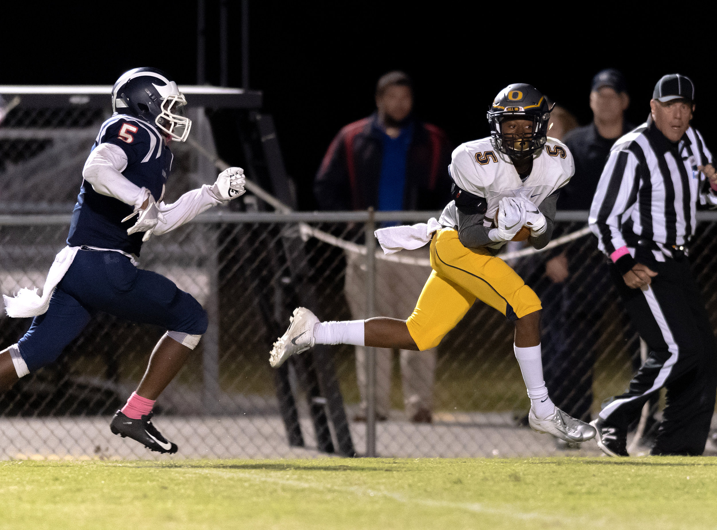 Game action from High School Football Ocean Lakes vs Kempsville held on Friday, October 19,2018 at Kempsville High School in Virginia Beach.