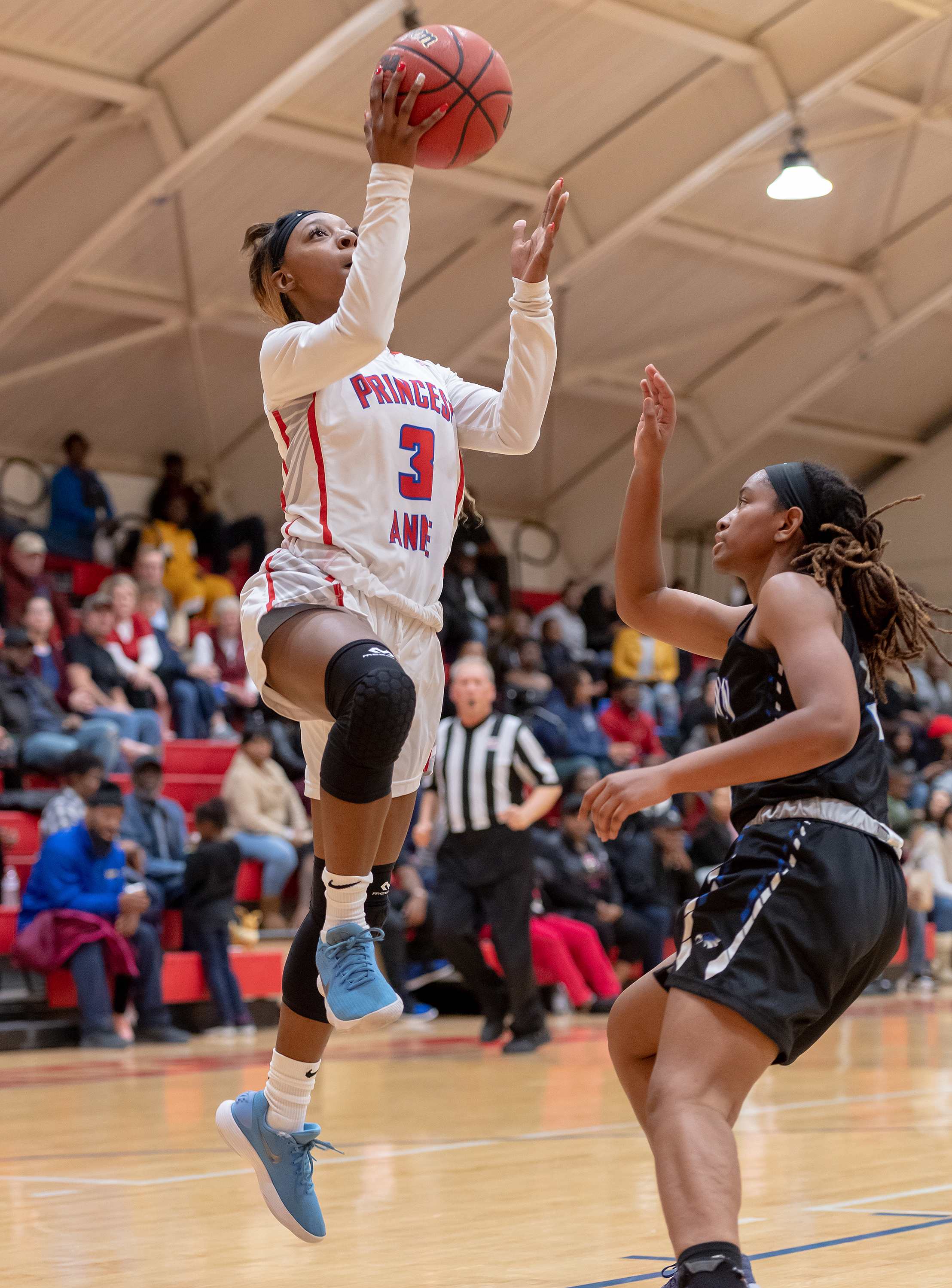 Game action from Landstown vs Princess Anne girls basketball held on Tuesday, November 27, 2018 at Princess Anne High School in Virginia Beach. Princess Anne defeated Landstown 83 to 35.