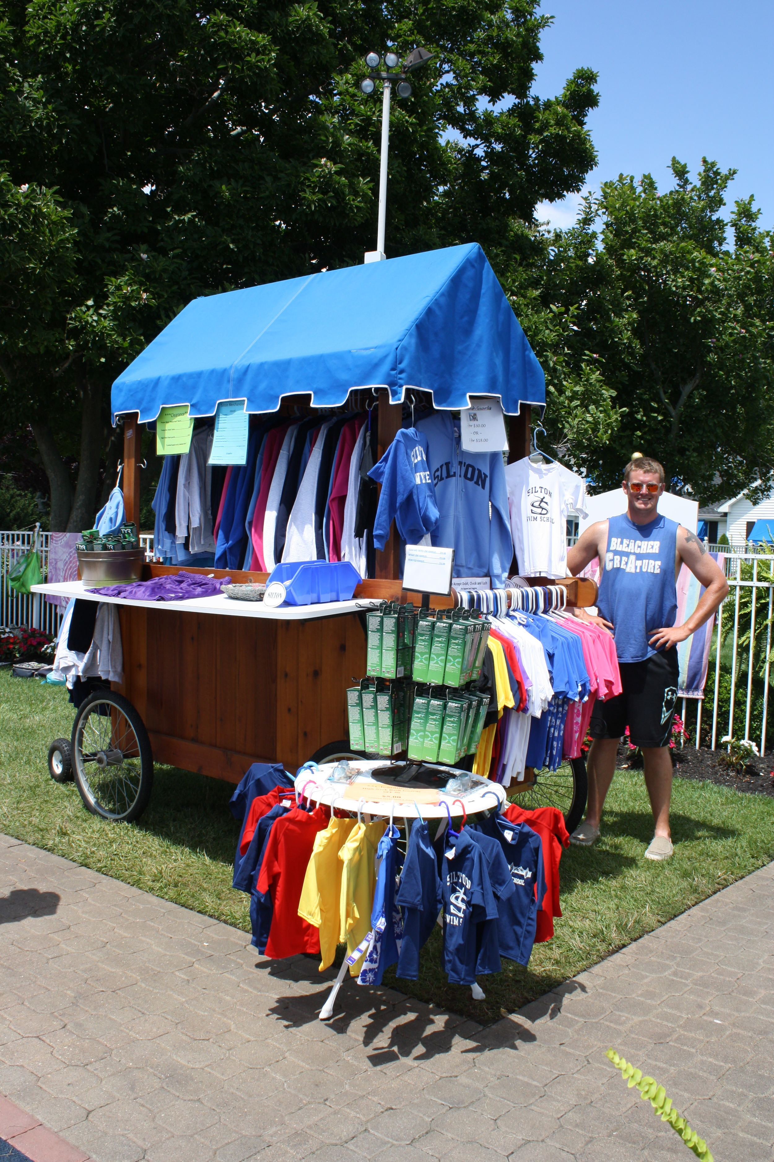 Our Silton Cart will be out on every Saturday morning displaying all merchandise!
