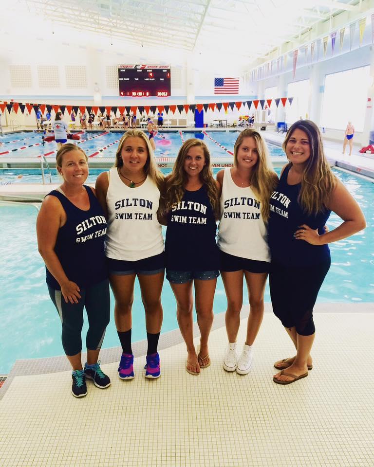 2016 - Swim Team Coaches: Danielle Nestler, Liz Spernal, Jamie Karanassos, Amanda Brunt and Meryl Parseghian.