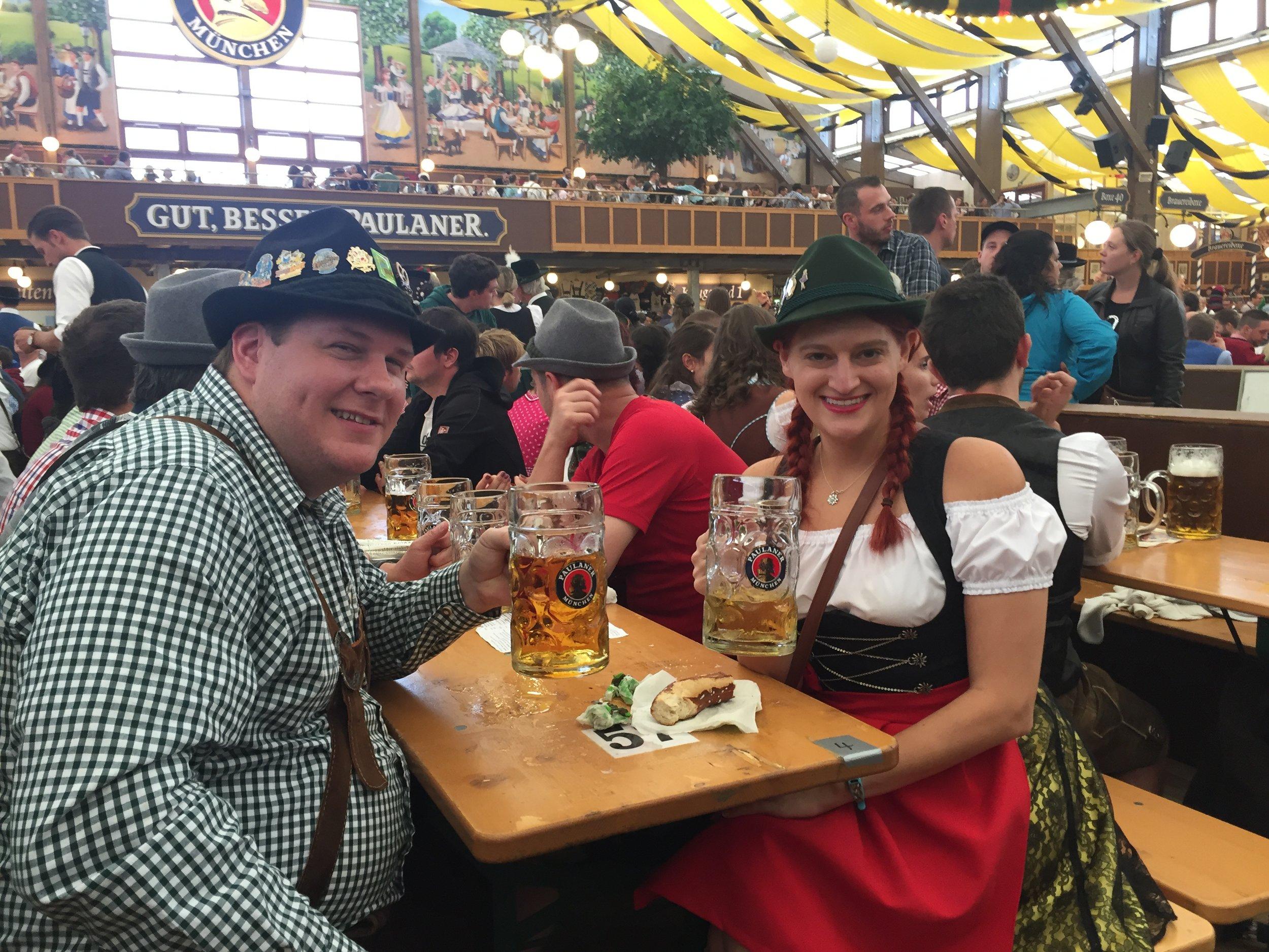 Our honeymoon in the PAULANER FESTZELT - WINZERER FÄHNDL - OKTOBERFEST 2016