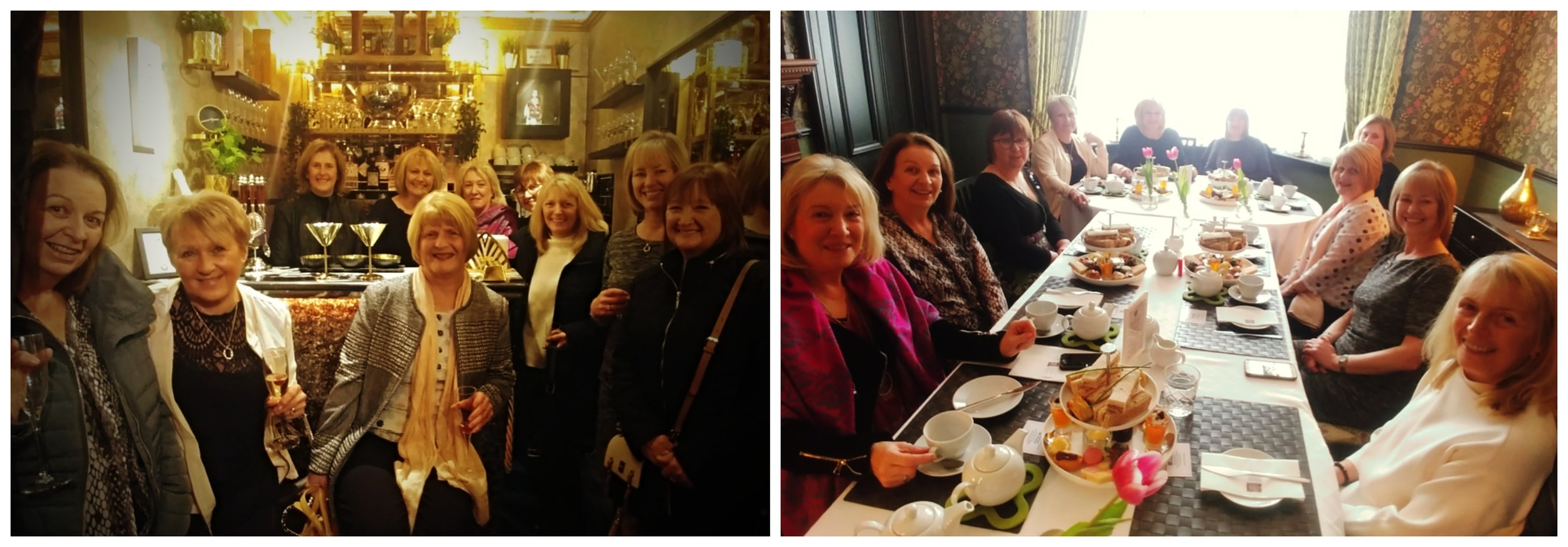 Former RBS Newmilns Branch Staff visit the Strongroom Bar and Enjoy Afternoon Tea at Lamlash House