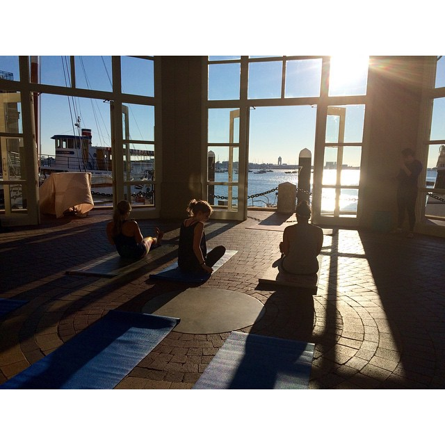 A beautiful morning with @womensforum and @thinkproducts for some sunrise yoga at the Boston Harbor Hotel! Great to see a few familiar faces (hi @juliettelaura and @style_wire) and meet some new bloggers! Thanks to Andrea Metcalf as well for hosting! #bostonbloggers #bostonblogger #womensforum #thinkthin #fblogger #fbloggers #wgsay #yogagirl #yoga #fitness #fashionblogger #igersboston #discoveraround #bostonharbor #WFInspire