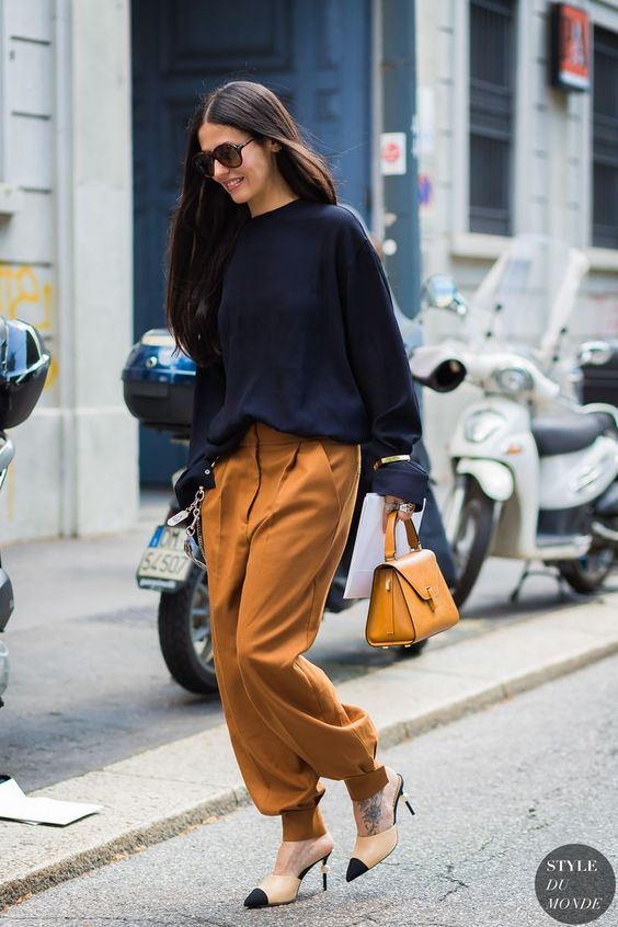 2. The Funky Trouser: Okay, so I am someone who LOVES fun pants. I know this could be a risk for some, but if that is the case, then pair them with simple pieces!    Shop my suggestion  here !