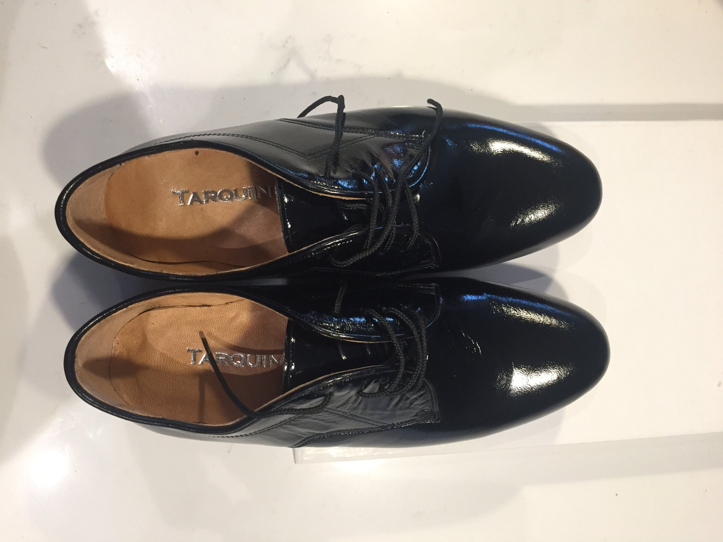 Tarquino Shoes, Black Patent Leather, Brand New, US Size 11 (European 44), $110