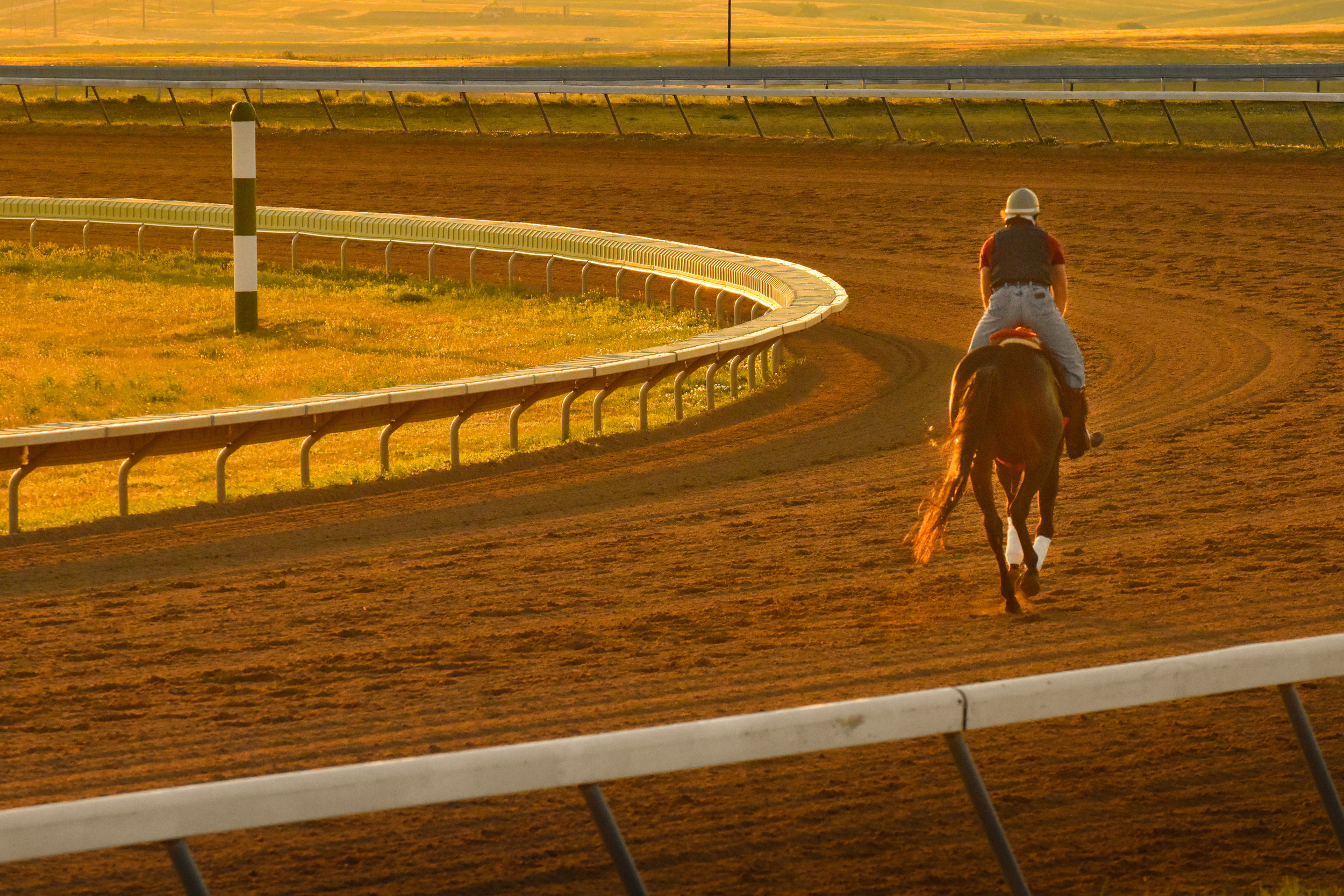 Arapahoe Race Track - Morning Training