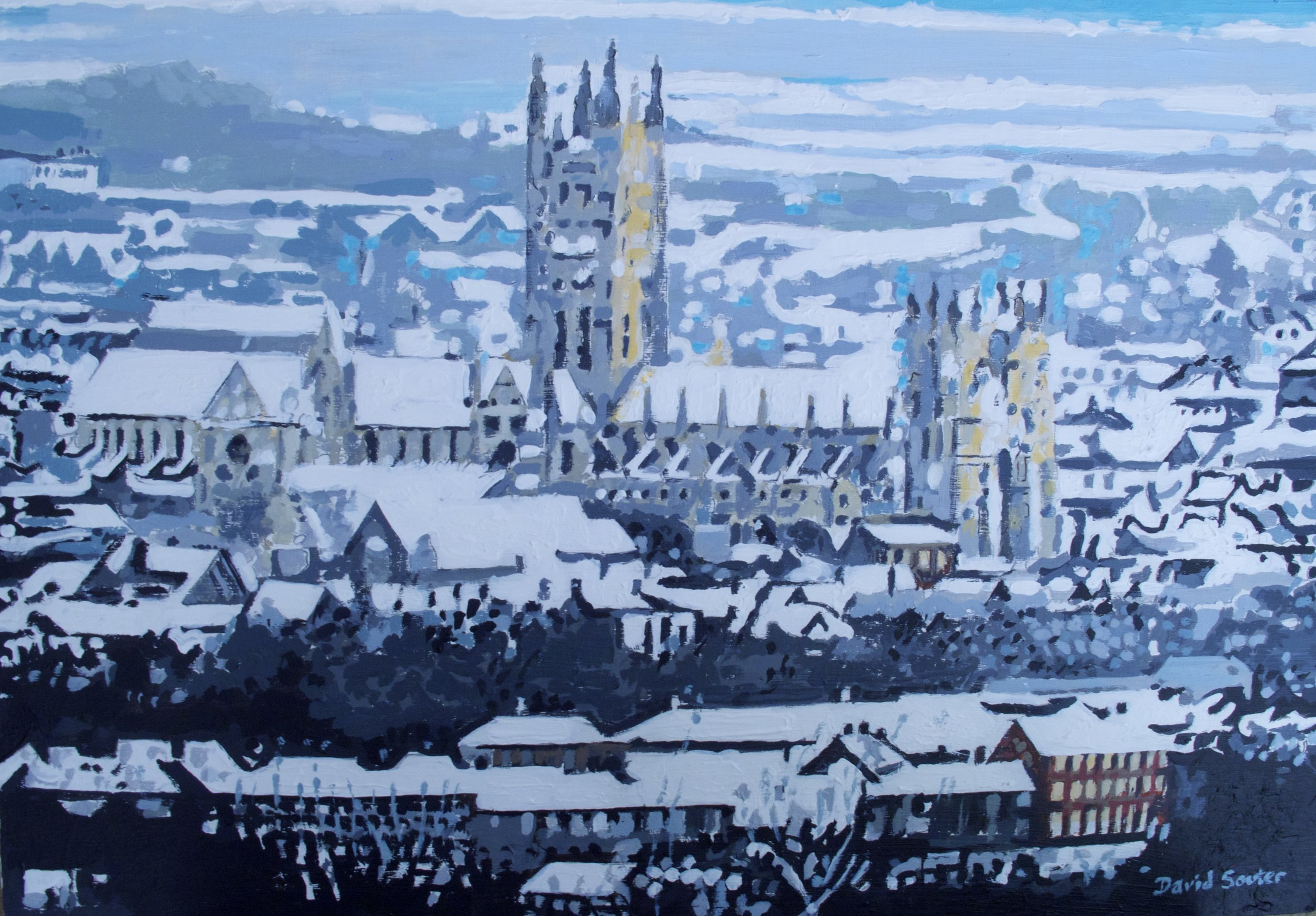 Canterbury under snow