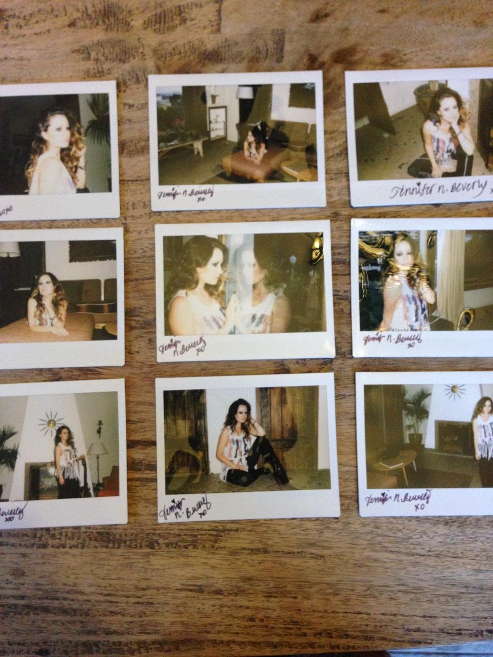 Polaroids of a few of the looks we shot . xoxo