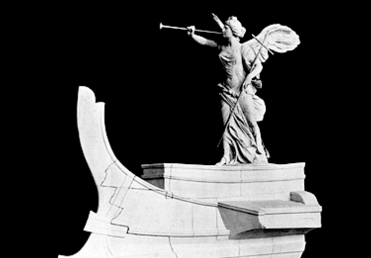 benndorf and zumbusch, model of winged victory of samothrace