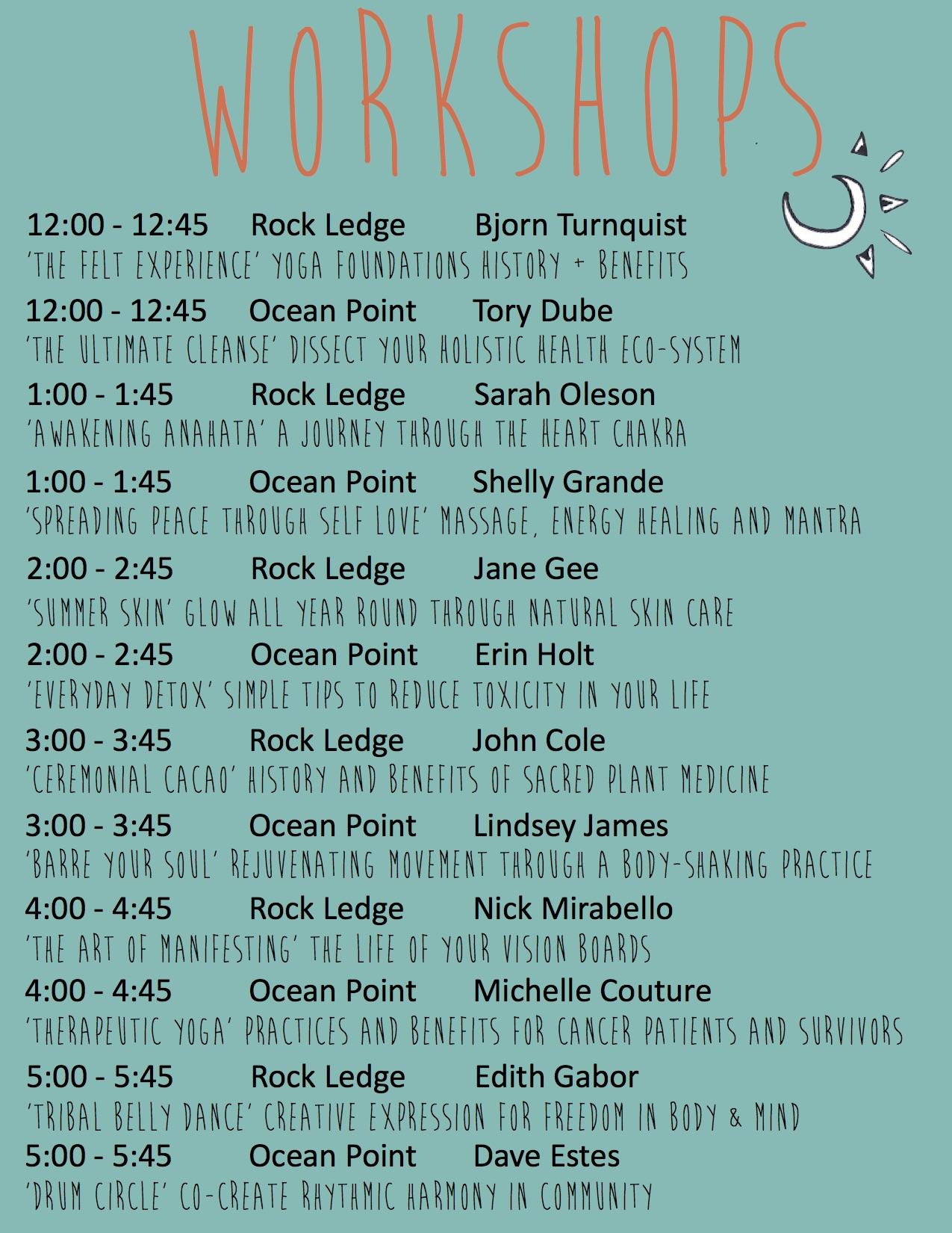 WV Workshop 2016 Schedule