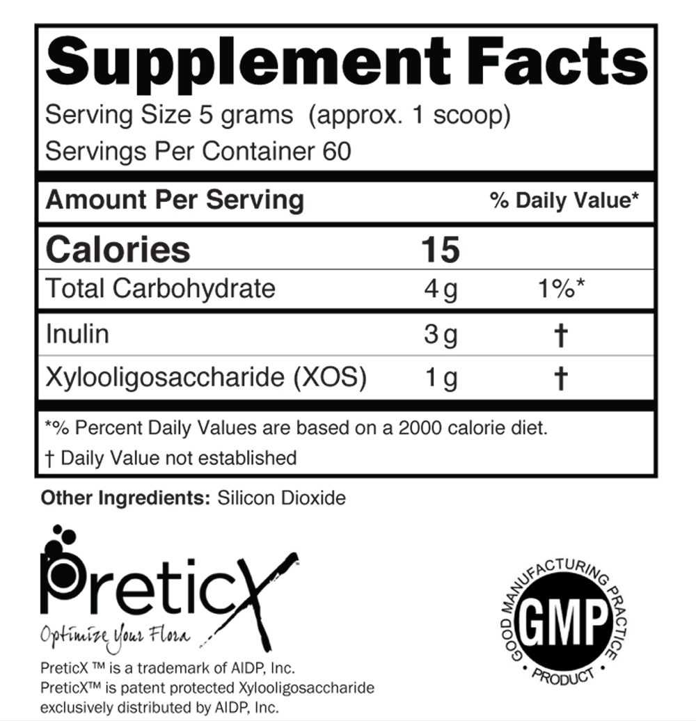 Suggested Use - Mix 1 level scoop with 6-8 oz of cold liquid or add to food.Take one scoop 1-2 times per day with breakfast and/or the evening meal.Due to the potent effects of Biome Fuel, begin with 1/2 scoop per day for the first 1-2 weeks. Gradually increase to 1 level scoop taken once or twice per day.Caution. Do not eat freshness packet enclosed.Store in a cool dry place.