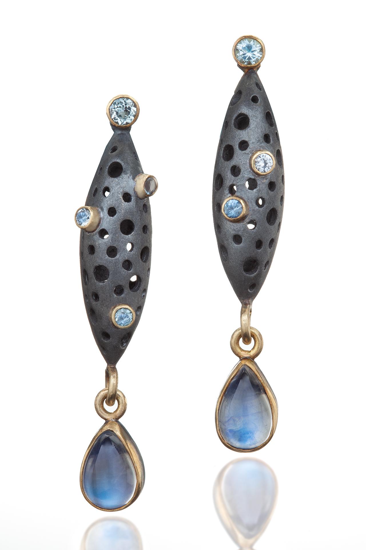 Blue Cocoon Earrings