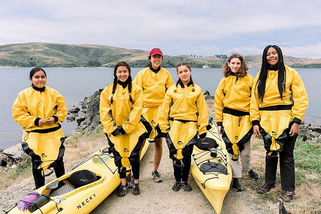 Some of our participants from Project Courage 🛶 all geared up for their kayaking adventure!  #Summer2019 #GirlVentures #TomalesBay #Camping