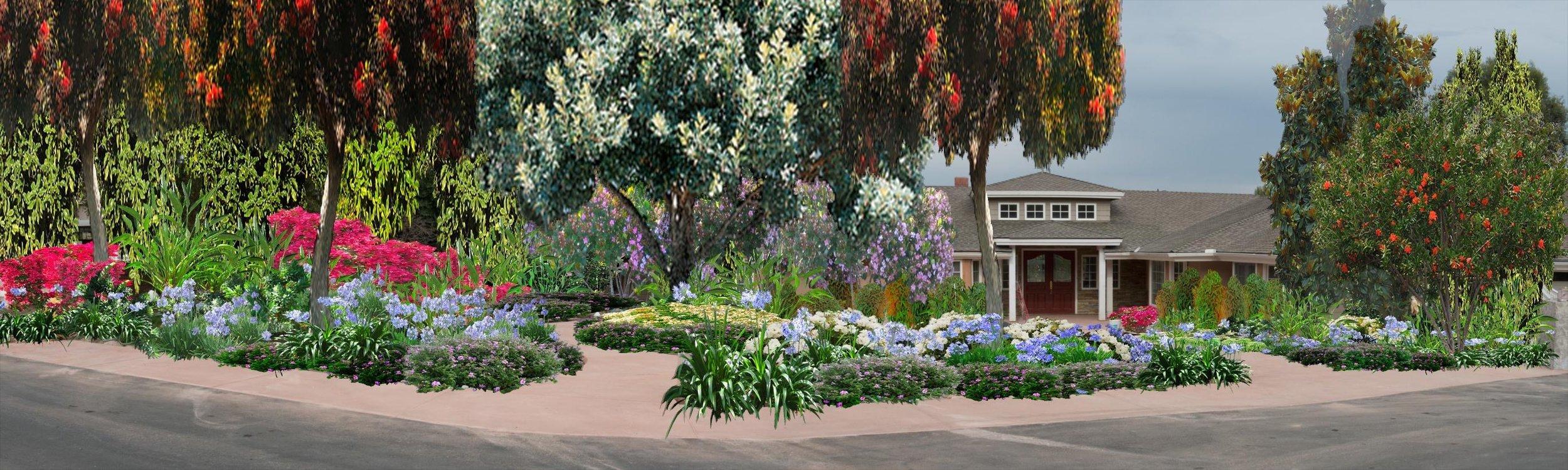 Front Yard, Design Rendering  Orange, California